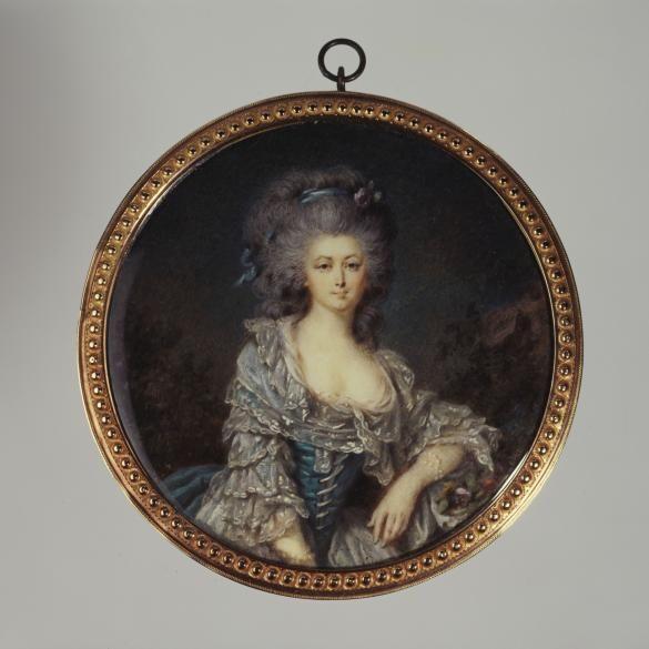 Portrait présumé de la comtesse d'Angiviller en robe bleue à dentelle | Paris Musées