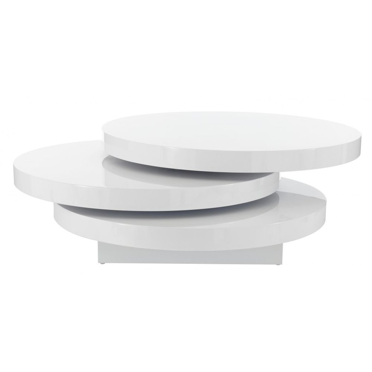 Table Basse 3 Plateaux Fly : Table basse plateau pivotant fly phaichi