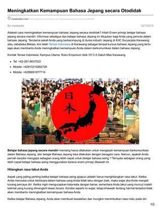 Kursus Bahasa Jepang by Masbadar - issuu
