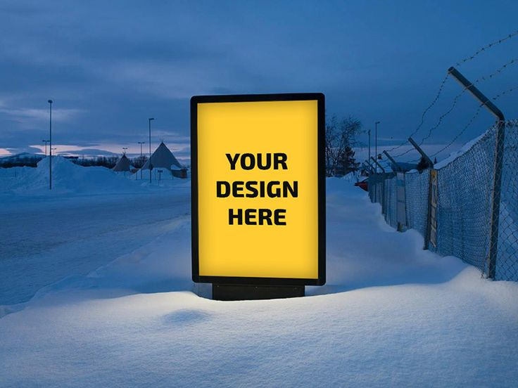 Outdoor Sign Ad Mockup