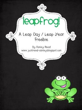 FREE This Leap Year freebie provides a simple way to explain the reason behind Leap Year/Leap Day for your PK-5th grade students.  Please visit my blog ...