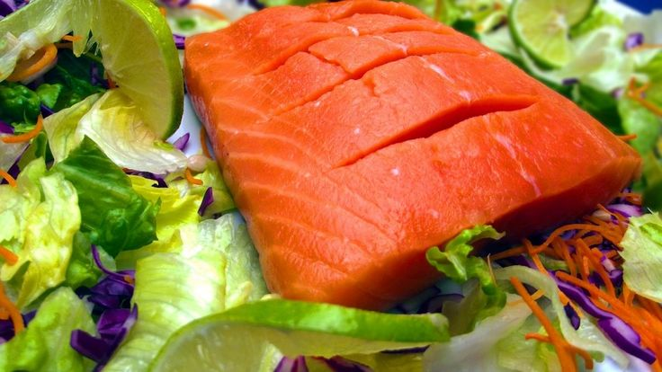 Salmon:  Add salmon to your eggs, or have some fresh with a little cheese if you like, because it's filled with lovely nutrients. Salmon is filled with omega-3 fatty acids which help reduce the risk of cardiovascular disease and make your skin extra healthy.