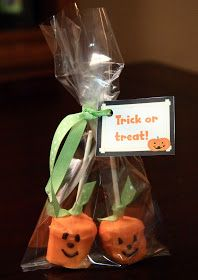 At Cooper's preschool, the parent's are asked to bring treats for their Halloween parties, and the children go to the different classroom do...