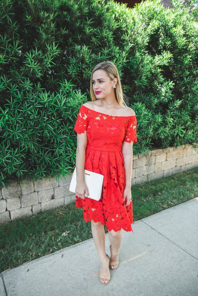 Little Red Lace Dress • Uptown with Elly Brown