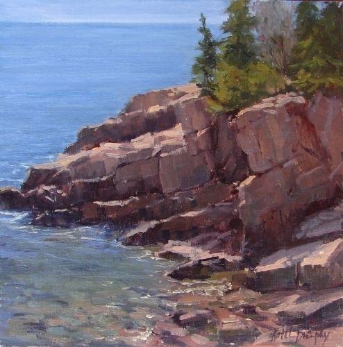 Acadia Coast by Kathleen Dunphy Oil ~ 12 x 12