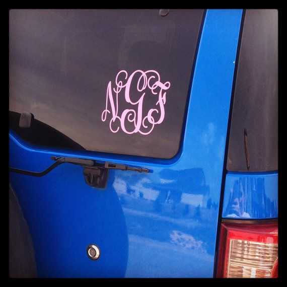 Car Monogram Sticker  Auto Monogram Decal  by SimplySouthernChics, $5.00