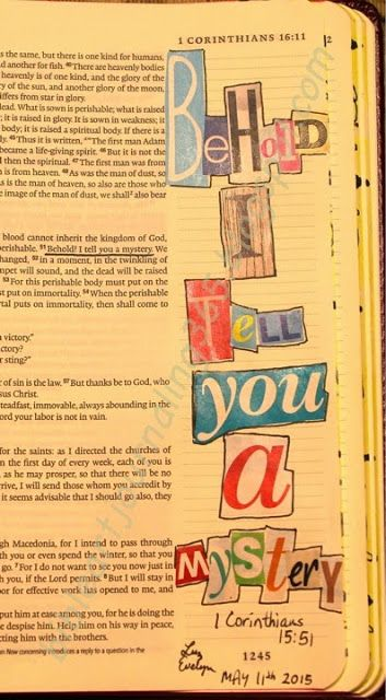 Easy Bible Art Journaling Journey: 1 Corinthians 15:51 (May 11th)