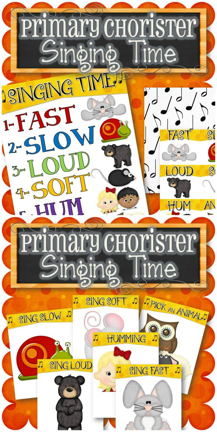 Another fun way to teach or review songs during singing time. There are six different options to sing the fun song/song(s) in primary! (For a game for reverent songs, click here: http://etsy.me/1zOXVrU) Purchase comes in three different game formats: (1) All on One Page - Roll a dice to determine the singing option (2) Cards - Take turns drawing a card out of a bowl (3) Large Pages - Place the 6 singing options on the floor and toss a bean bag