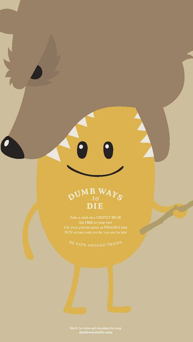 Dumb Ways to Die_ Bears - Funny Cartoon iPhone wallpapers @mobile9