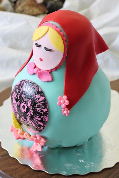 matryoshka doll cake
