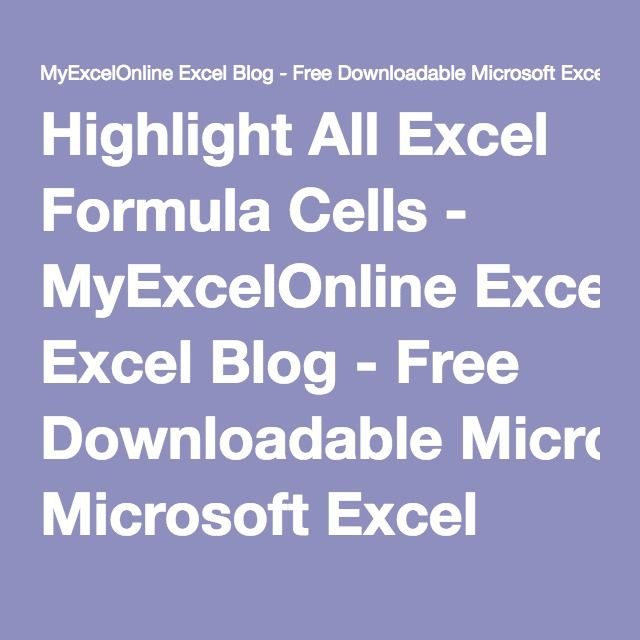 all excel formulas  free