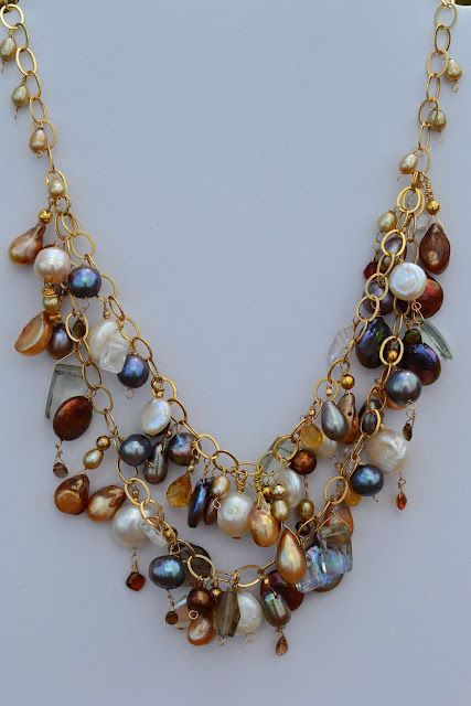 Pearl Strand Double Bib Necklace