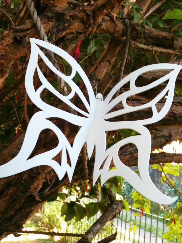 mariposas hechas a mano | mariposa hecha a mano con dos tipos de alambres