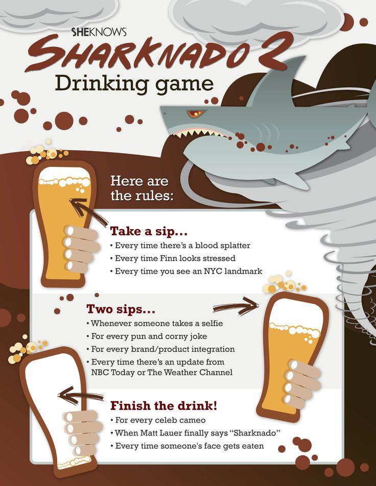 #Sharknado drinking game!! OHHH YEAA!! #drinkinggames @LiquorListcom www.LiquorList.com #LiquorList