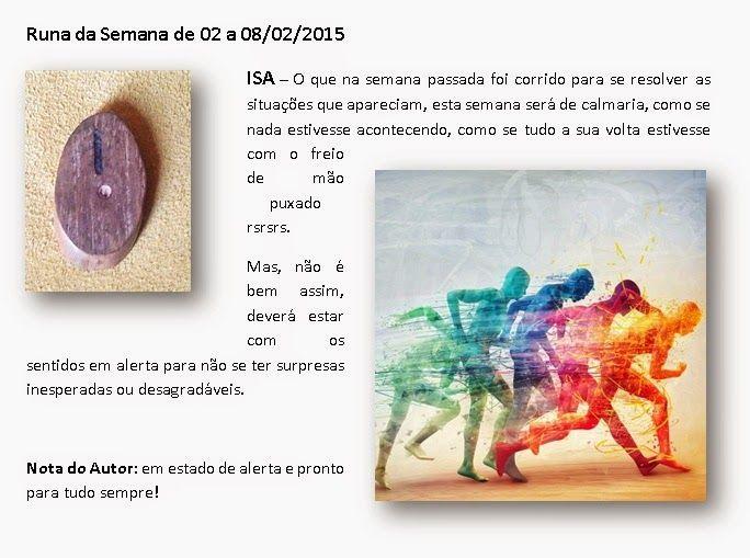 MAURICIO FERREIRAA: Runa da Semana de 02 a 08/02/2015