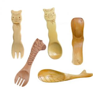 Cute Wooden Animal Cutlery Set for Children & Baby -> Cute attack! These natural wood utensils are perfect for feeding your little angel. They are metal and plastic free, and will naturally break down into soil at the end of their life. Buy now for $9.96.