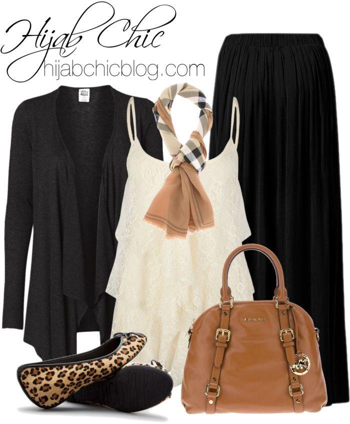 Hijab Outfit: Burberry silk shawl