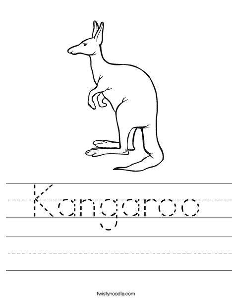 Kangaroo Worksheet - Twisty Noodle