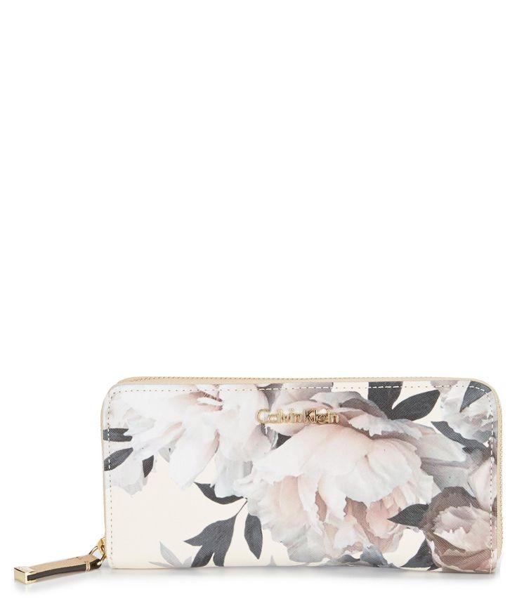Calvin Klein Floral Print Wallet #Dillards