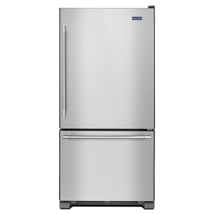 Maytag 19 Cu Ft Bottom Freezer Refrigerator In