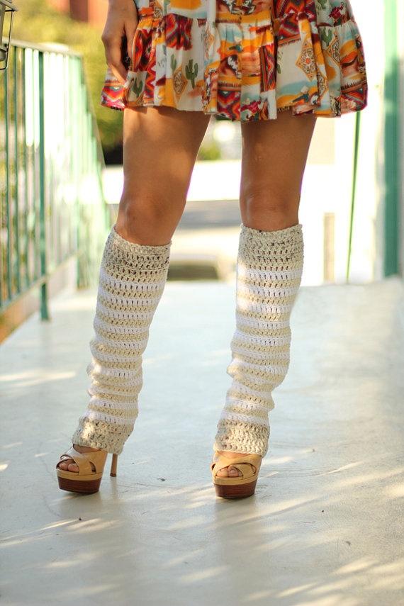 with Leg heels warmers