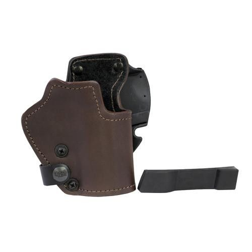 3 Layer Synthetic Leather Belt Holster - CZ 75D Compact, Brown, Right Hand