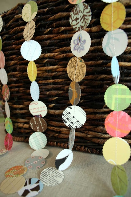 Pretty (recycled) paper garland