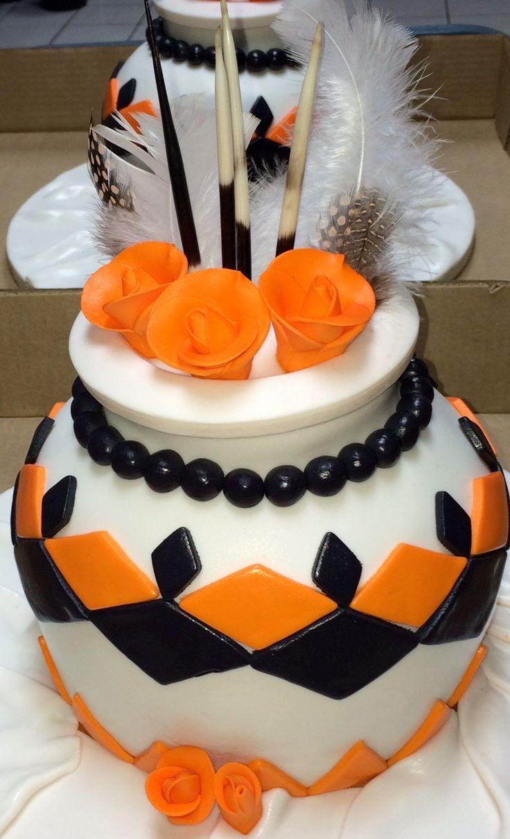 African Pot Wedding cake