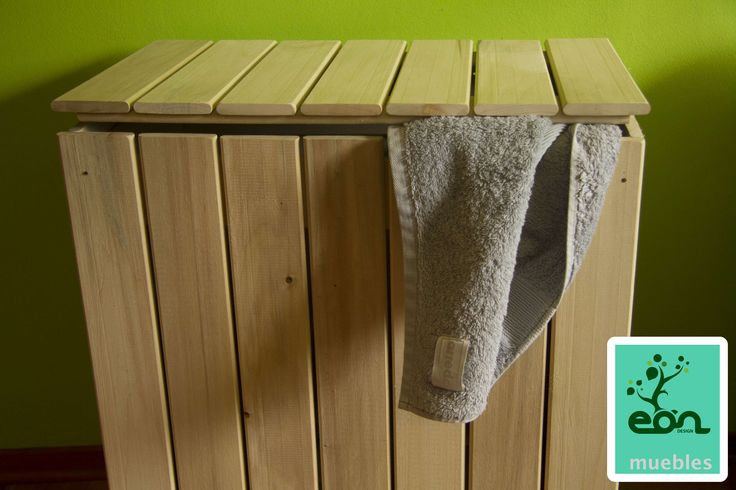 Cestos hecho en madera de alamo para organizar ropa sucia - Cestos de madera ...