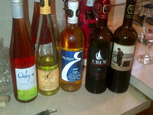 """@McLean_Scott86: Good lineup of local wine! @CREWinery @ErieShoreVyd @OxleyWine #goodstarttoweek! ""Thank you!"