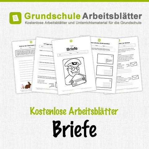 Kostenlose Arbeitsblätter und Unterrichtsmaterial für den Deutsch-Unterricht zum Thema Briefe in der Grundschule.