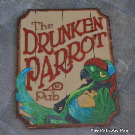 Drunken Parrot Pub Sign