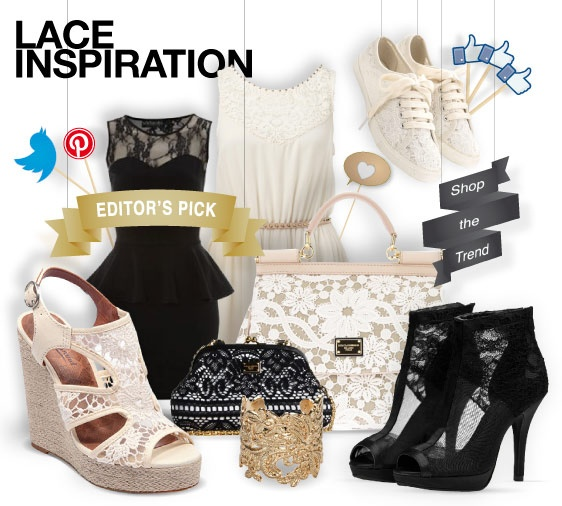 #Lace mania #shoes #bags #accesories   shopthemagazine.com