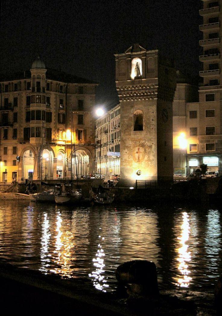la Torretta di notte a #Savona