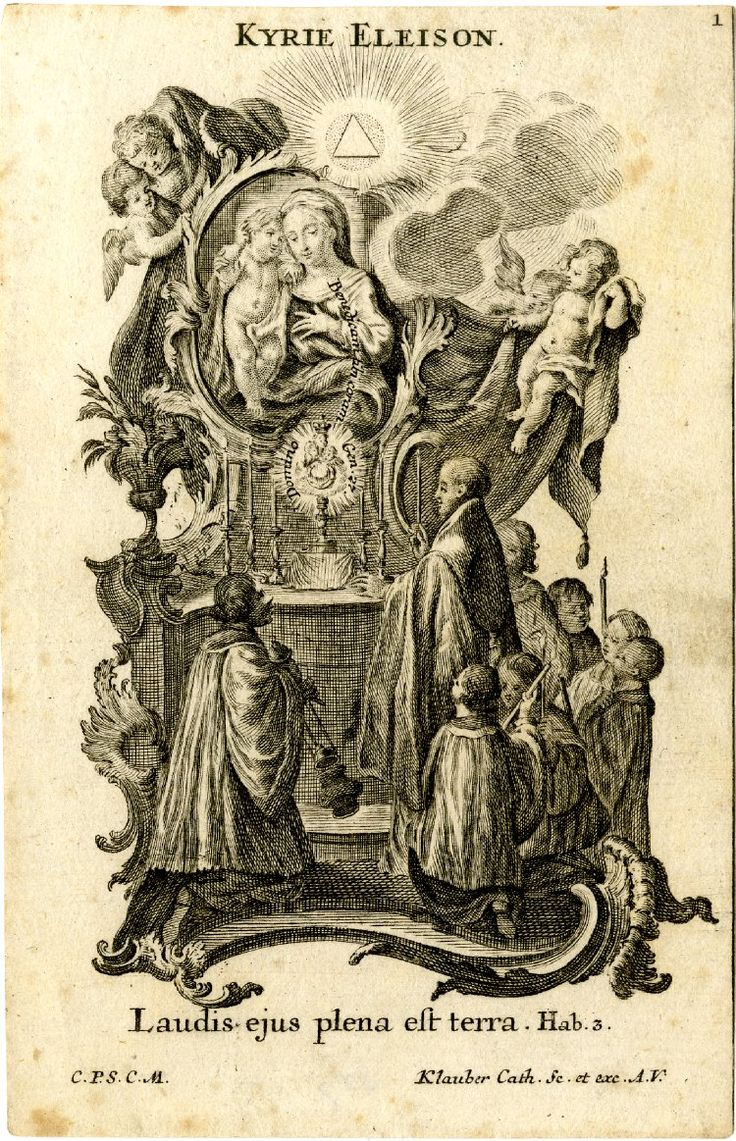 Illustration to this important poem, each sheet illustrating one verse and depicting the Virgin in various 'roles', venerated by saints or with the holy family .1750s  Engraving and etching