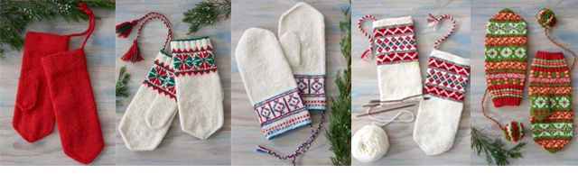 Sami mittens: Jouni's Red Mittens (traditional pattern re-created from a pair owned by Jouni Aikio, a North Sami reindeer herder from Finland); Inari Saami Mittens; Skolt Saami Mittens; North Sámi Mittens; Ájtte Treasure Mittens
