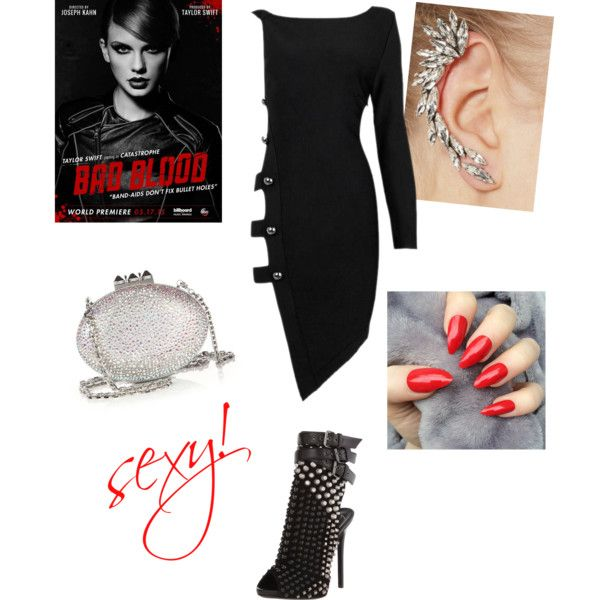 Bad Blood by ruiters-deidre on Polyvore featuring polyvore fashion style Posh Girl Giuseppe Zanotti Christian Louboutin