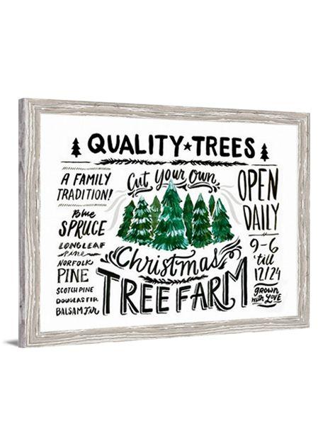Christmas Art - Christmas Tree Farm canvas art by Lindsay Letters.