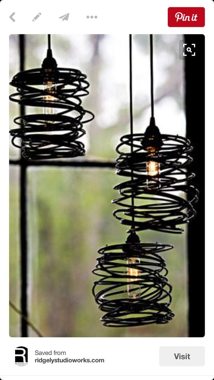 AuBergewohnlich Steckdosenleisten, Spiralen, Glühbirnen, Draht, Schattierungen, Lampen,  Nester