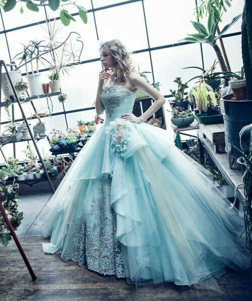 Alice in Wonderland Wedding Gown