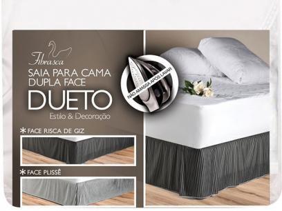 Saia para Cama Box Solteiro Plissé - Fibrasca com as melhores condições você encontra no Magazine Shopcarl. Confira!