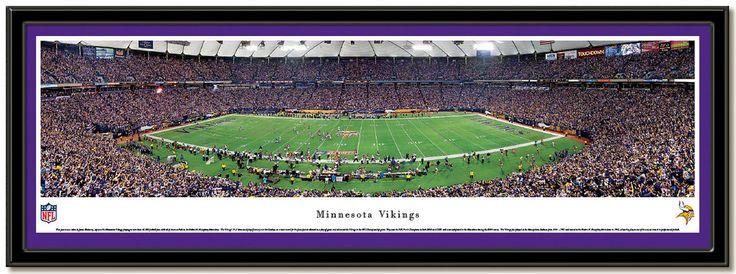 Minnesota Vikings Hubert H. Humphrey Metrodome Football Poster