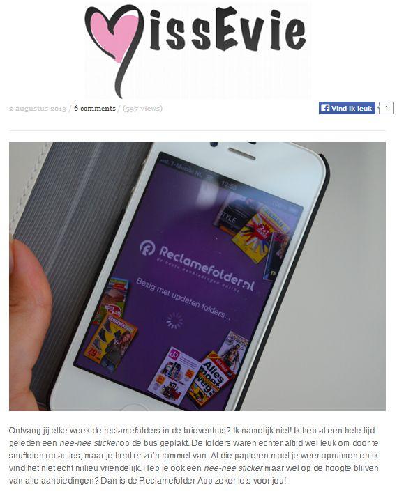 Bekijk het hele artikel op: http://missevie.nl/2013/08/reclamefolder-app/.