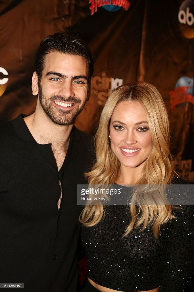 Nyle DiMarco and partner Peta Murgatroyd pose at the 22nd Season Stars of ABC's 'Dancing With The Stars' cast announcement at Planet Hollywood Times Square on March 8, 2016 in New York City.