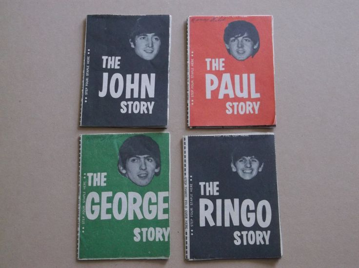Vintage 1964 Mini The Beatles Books,The John Story,The Paul Story,The George Story and The Ringo Story, Original Set of 4 by russnmt on Etsy