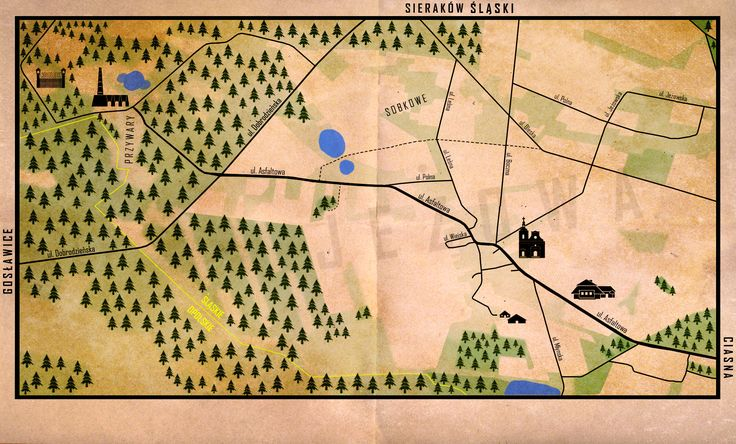 JEŻOWA - map