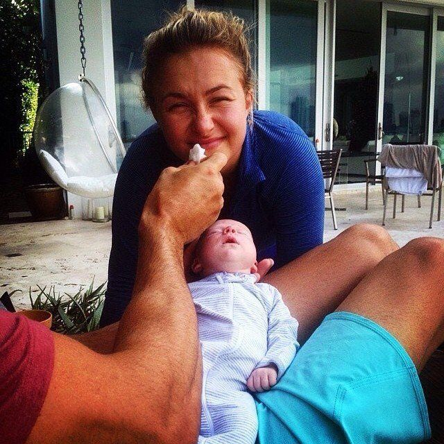 Pin for Later: Hayden Panettiere Gets Cute With Her Baby Girl