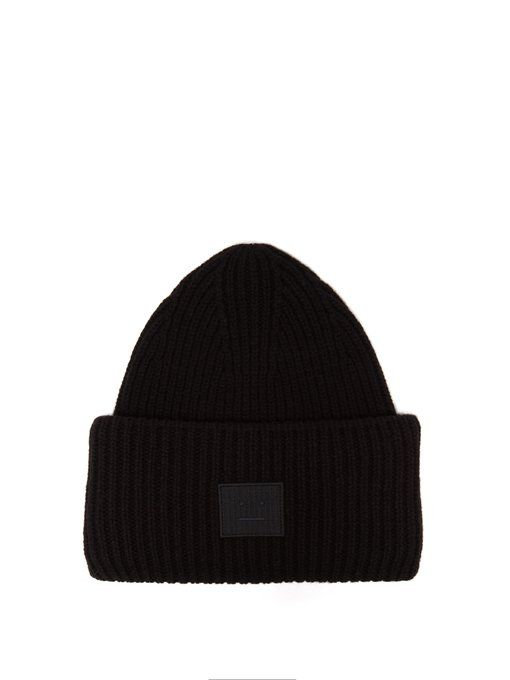 0923b9bbdff ACNE STUDIOS Pansy N Face ribbed-knit wool beanie hat.  acnestudios ...