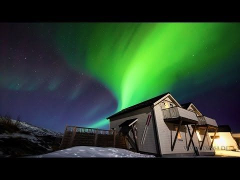 Spectacular Norway Northern Lights 4:26 to music HD with multi colors and angles