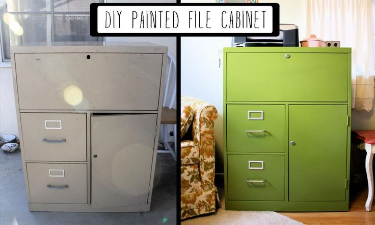 Scavenger Hunt: DIY: Painted Filing Cabinet